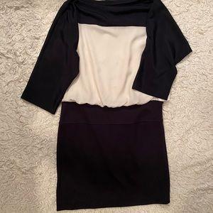 Ann Taylor Loft Black & White Dress Size 6 Petite